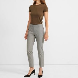 THEORY Testra Houndstooth cropped pants trousers